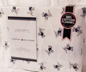 New Tommy Hilfiger Scottie Flannel Sheet Set
